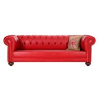 3A Mobilya Red Leather Chesterfield - Kırmızı