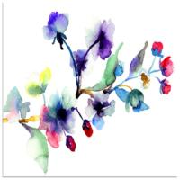Arte Suluboya Çiçek Kanvas Tablo