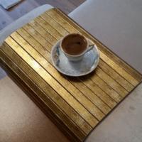 Esser Altın Varak - Koltuk Sehpası 30x40 cm