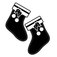Özgül Grup Yılbaşı Dekoratif Duvar Sticker Çorap | 44x37 cm