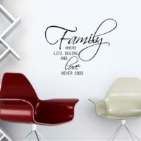 Özgül Grup Özgül Grup Family Duvar Sticker KBS-146   91x72