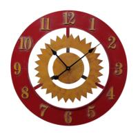 N'crea Home Kırmızı Çarklı Metal Saat