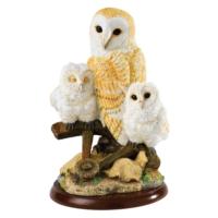 Border Fine Arts Barn Owl Wıth Owlets Biblo