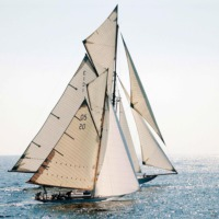 Innova Old Sailor 70X70 Cm Cam Tablo