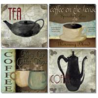Fotocron Tea And Caffe 4'lü Tablo