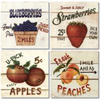 Fotocron Country Fruits 4'lü Tablo