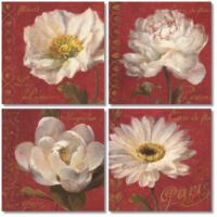 Fotocron Beyaz Çiçekler 4'lü Tablo