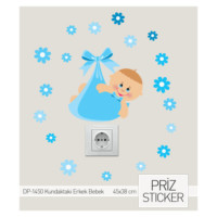 ARTİKEL Yeni Doğan Erkek Priz Sticker DP-1450