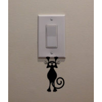 Dekorjinal Kedi Priz Sticker CST083