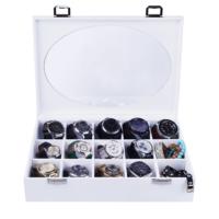 Evmanya Harmony Aksesuar Kutusu Oval Cam 15 lı̇ Beyaz