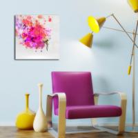 Özgül Grup Soyut Renkler 45x45 Kanvas Tablo