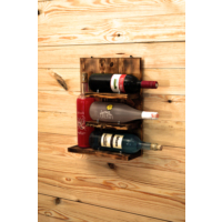 Oldwooddesign 4'lü Şaraplık Raf Burma