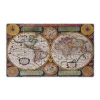 Oscar Stone Old Map Doğal Taş Tablo