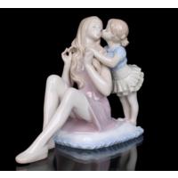 Gift Cloud Anne ve Kız Figürlü Porselen Biblo Öpücük