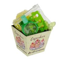 Flor De Mayo Cupcake Hediye Seti-Yeşil Çay