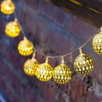 BuldumBuldum Ball String Lights - Top Ağaç Işıkları - Bakır