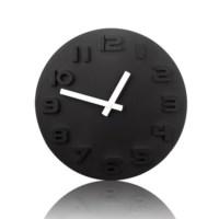 BuldumBuldum Black & White Wall Clock - Siyah & Beyaz Duvar Saati - Siyah