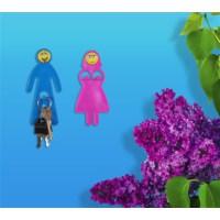 BuldumBuldum Mr. And Mrs. Lover'S, Smiley Serisi - Eğlenceli Askılar - Mavi Kadın, Sarı Erkek (256)