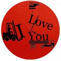 BuldumBuldum Tasarım Cam Duvar Saatleri - I Love You Cam Duvar Saati