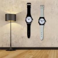 BuldumBuldum Watch Wall Clock - Kol Saati Şeklinde Duvar Saati - Siyah