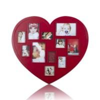 BuldumBuldum Heart Plastic Photo Frames - Kalp Fotoğraf Çerçeveleri - Siyah Plastik (63X48Cm)