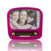 BuldumBuldum Nostalgic Radio And Camera Glass Picture Frames - Nostaljik Radyo Ve Kamera Fotoğraf Çerçeveleri - Kamera Turuncu
