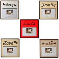 BuldumBuldum Aileye Özel Ahşap Fotoğraf Çerçeveleri - Family
