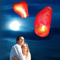 BuldumBuldum Love Heart Flying Lantern - Kalpli Dilek Feneri - 3'Lü Paket