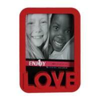 BuldumBuldum Love Plastik Fotoğraf Çerçevesi - Kırmızı
