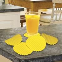BuldumBuldum Crinkle Cut Style Coaster - Cips Bardak Altlıkları