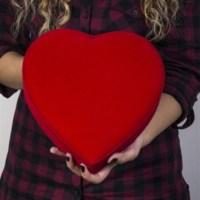 BuldumBuldum Kadife Kalp Hediye Kutusu - 24X25X5 Cm