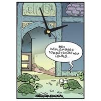 BuldumBuldum Selçuk Erdem 'Kaplumbağa Terbiyecisi' Duvar Saati 21X15 Cm