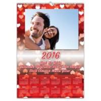 BuldumBuldum Romantiklere Özel Kalpli Duvar Takvimi