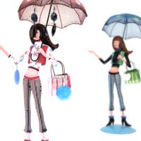 Kanca Ev Pembe Şemsiyeli Genç Kız Takı Askılığı