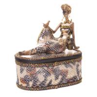 Biev Aksesuar Afrikalı Kadın Mücevher Kutusu 14x8x15 cm