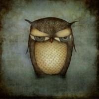 Fotocron Dekoratif Tablo Yalnız Baykuş