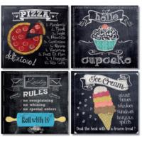 Fotocron Yiyecekler 4'lü Tablo