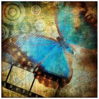 Arte Mavi Kelebek Kanvas Tablo