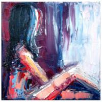 Arte Yağlıboya Kadın Kanvas Tablo