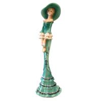 N'crea Home Yeşil Elbiseli Bayan Biblo