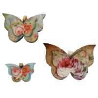Orta Sofa Vintage 3 lü Kelebek Seti