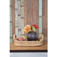 Evlina Home Mum Tasarımlı Kahverengi Kesme Cam Vazo