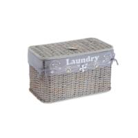 Kancaev Hasır, Eskitilmiş Gri Yatay Çamaşır Sepeti, Laundry, Küçük
