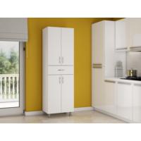 Bestline Zümrüt 1 Çekmece 4 Kapaklı Mutfak Dolabı - Beyaz