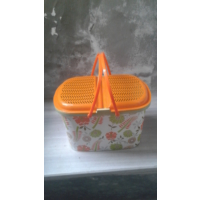 Elif Plastik Desenli Plastik Piknik Sepeti