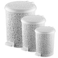 Elif Plastik Sarmaşık Pedallı Çöp Kovası 20 Lt- 1 Adet