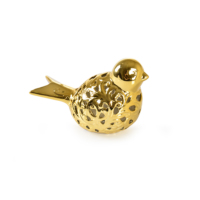 Çağ Deccor 2'Li Altın Renk Orta Boy Kuş