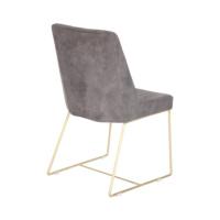 Pirinç Ayaklı Sandalye Füme Renk