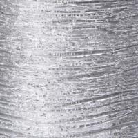 Era Silver Silindir Mum Gümüş Rengi 7,5X13 Cm