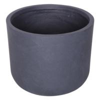Yuvarlak Saksı Granit Renk XL 38x33 Cm
